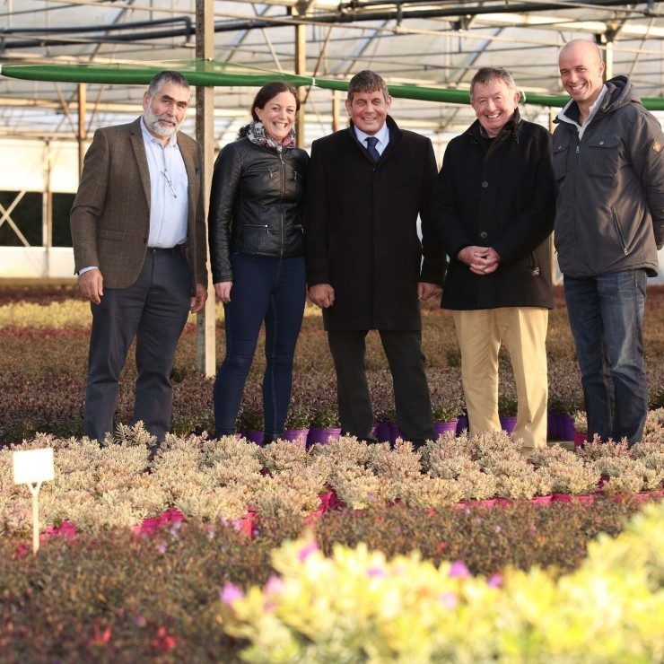 Minister Andrew Doyle visits Tully Nurseries 2017